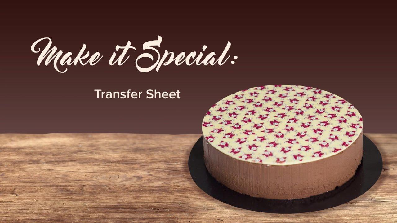 Transfer Sheet Callebaut