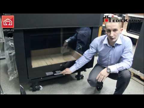 Видеообзор. Каминная топка с водяным контуром AQUAMAXI 28 (EDILKAMIN)