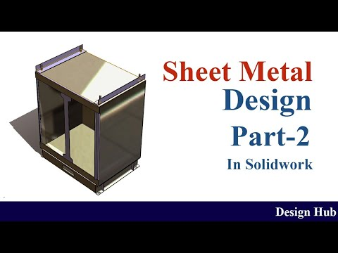 Electrical panne box design -using sheet metal  solidwork