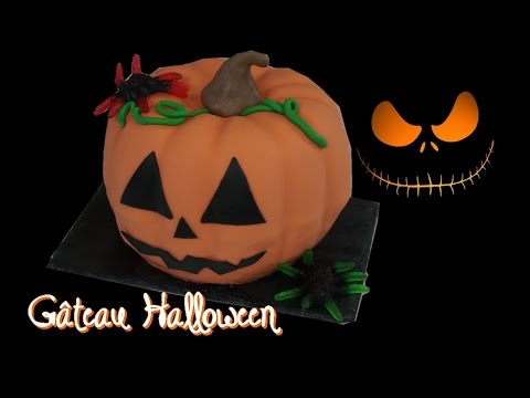 gâteau-halloween-citrouille-3d-|-pumpkin-cake-3d-|-pinata-cake