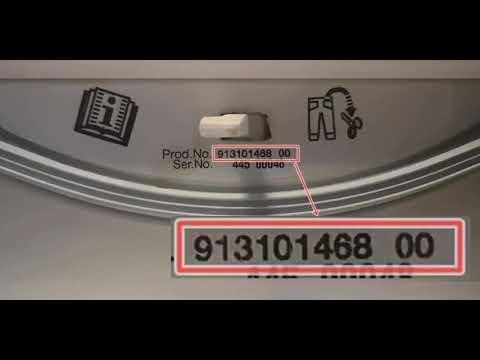 Electrolux EWT41262TW felültöltős mosógép adattáblája