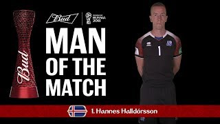 Hannes HALLDORSSON (Iceland) - Man of the Match - MATCH 7