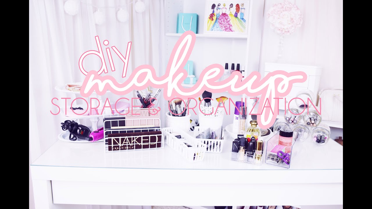10 DIY Makeup Storage & Organization Ideas ♡