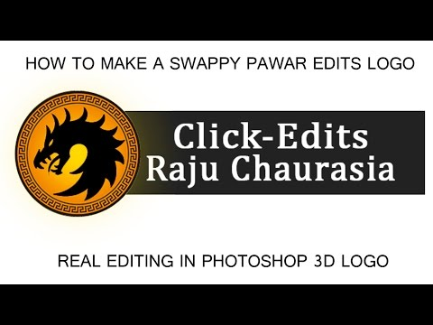 How To Make A Swappy Pawar Edits Logo || Real Editing  In Photoshop 3D Logo