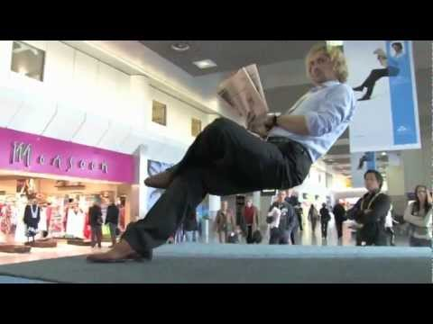 Invisible chair - KLM royal dutch airlines