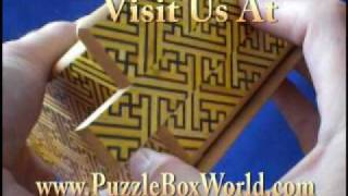 5 Sun 27 Step Kizaya Japanese Puzzle Box By Okiyama-san