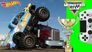 HOT WHEELS MONSTER JAM MONSTER TRUCKS VIDEO GAME FREESTYLE CHAMPIONSHIP