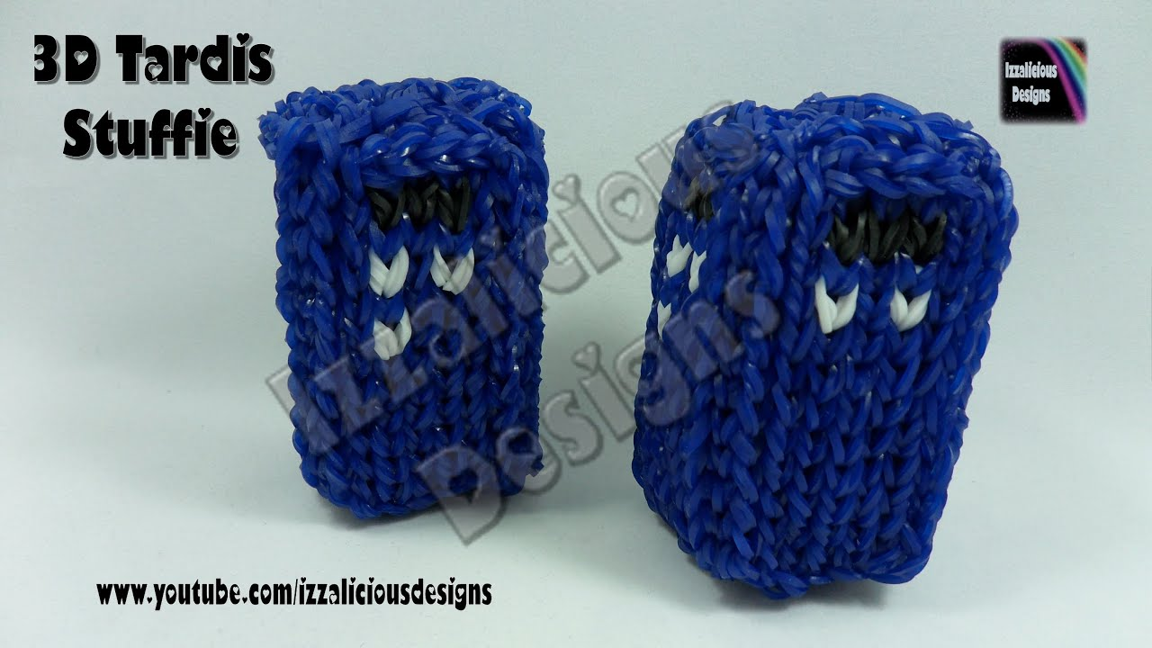 Rainbow Loom 3d Tardis Stuffie Charm From Doctor Who
