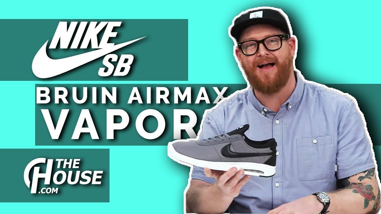 En detalle pasión diagonal  2018 Nike SB Air Max Bruin Vapor Shoes - YouTube