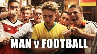 Surrounded by Germans, Supporting Brazil. F**k! | Man v Football