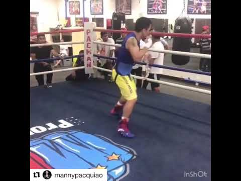 Manny Pacquiao Sick Speed In Camp For Matthysse looks like young mp