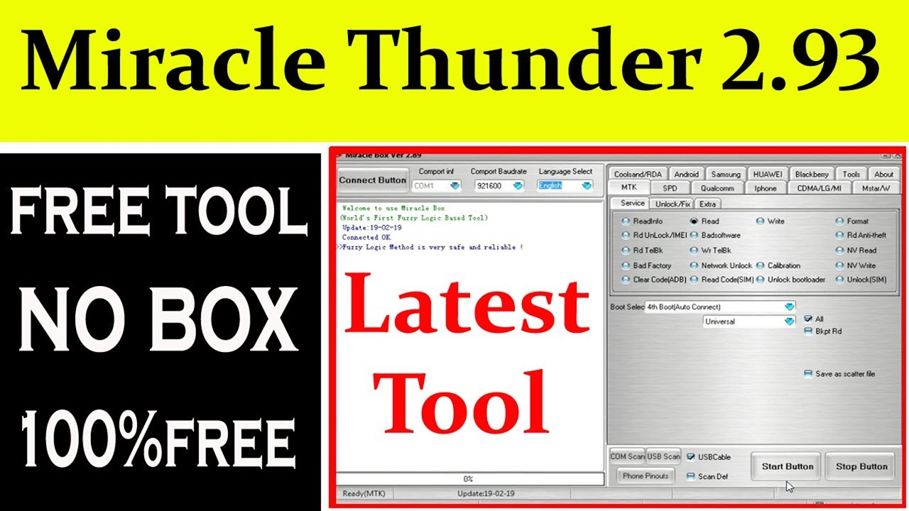 Miracle Thunder 2.93 Free Tool Work in All Latest Mobiles By AMS TECH