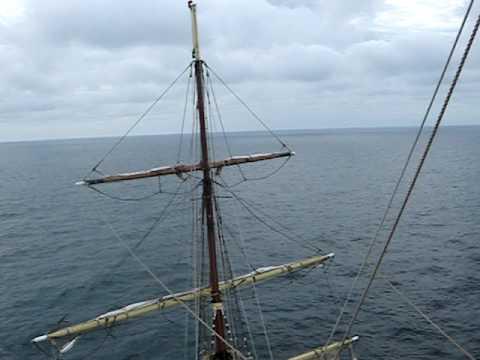 Sorlandet tall ship climbing the main mast youtube sciox Gallery