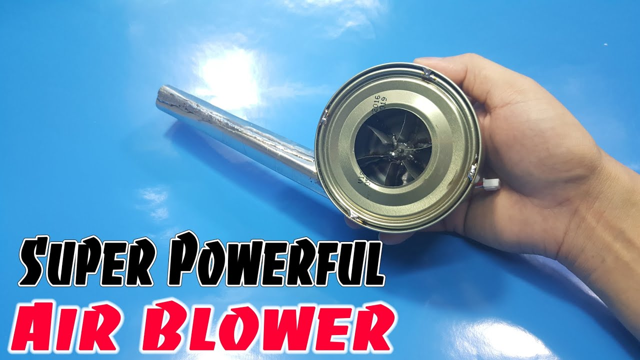 Small Air Blowers : How to make mini super powerful air blower using cans fish