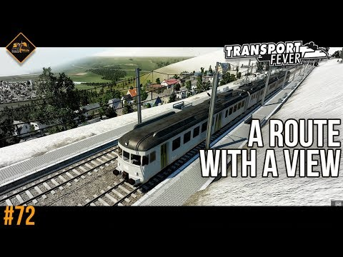 Mountain-top commuter route | Transport Fever The Alps #72