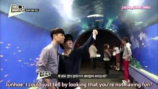 Ks9 - Jinhwan & Junhoe Video Call Bi @ Mix & Match Episode 7  Hd Engsub L 141023