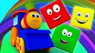 bob il treno colore giro | Colori per i bambini | Imparare i nomi dei colori | Bob Train Color Ride