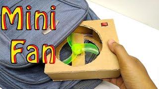 How to make a portable Mini Fan | DIY Mini Fan at home | Electric Fan