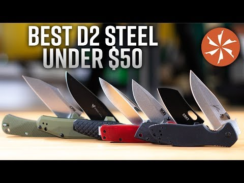 Best D2 Steel Folding Knives Under $50 In 2019 At KnifeCenter.com