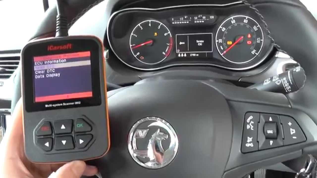 I902 Vauxhall Opel Corsa E Front Abs Warning Light