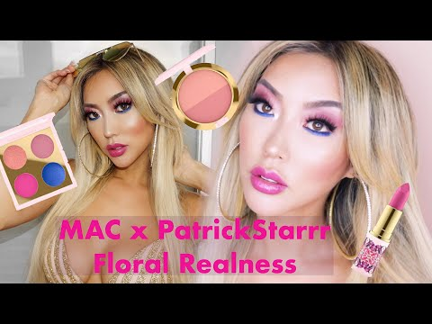 MAC x PatrickStarrr Floral Realness Me So Fleek tutorial  Arika Sato