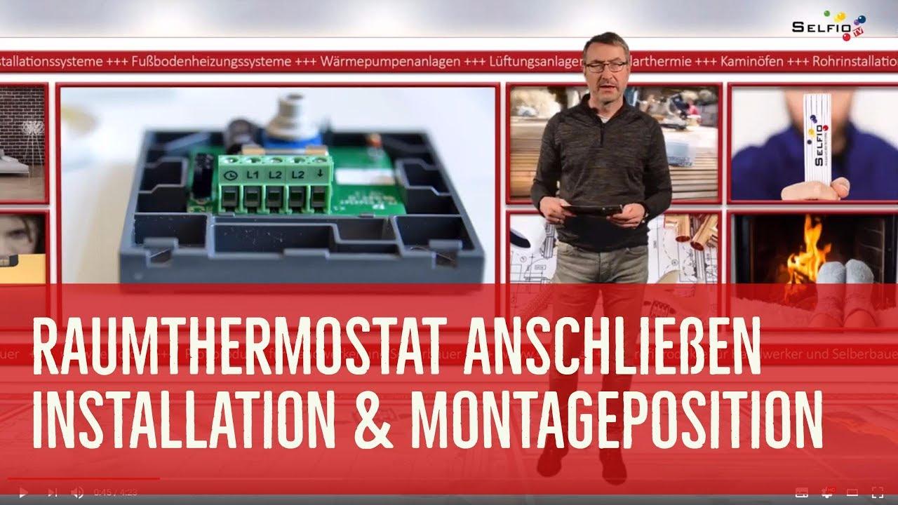 Bekannt Raumthermostat anschließen / Thermostat montieren - YouTube MC12