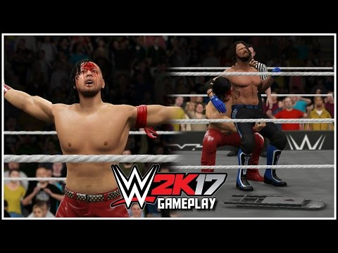 WWE 2K17 - 4 NEW KINSHASAS! Nakamura vs Styles Gameplay Part 2 (Post-Match Breakout & More!) [PS4]