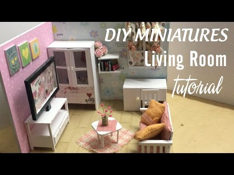 DIY Dollhouse Miniature Living Room | DIY Furniture Set Tutorial | FULL Video