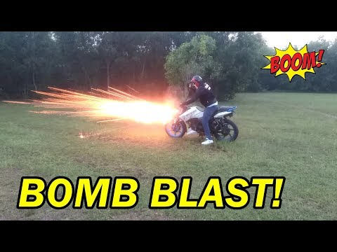 Diwali Special Fire crackers with bike stunt