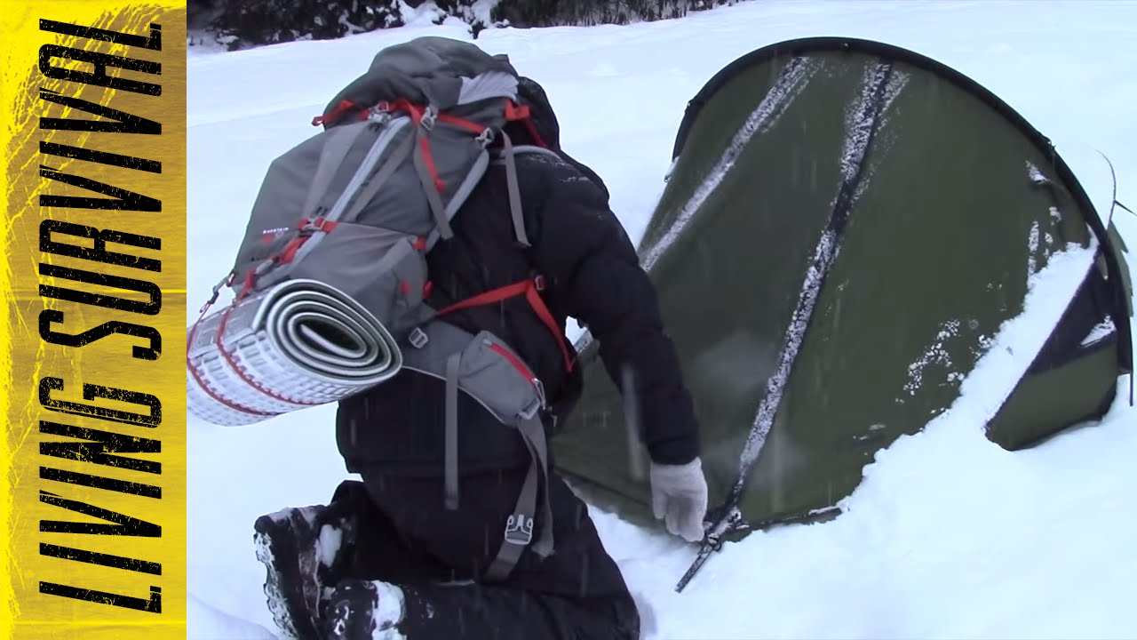 & Snugpak Scorpion 2 Tent Winter Camping - YouTube