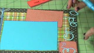 Third Grade Scrapbook Layout (Boy)