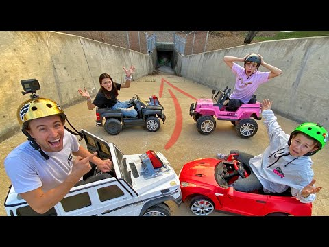 Racing TOY CARS Through Down Hill TUNNELS