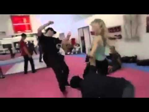 Self-defense strikes by Taekwondo