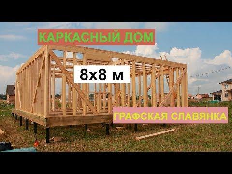 """СК """"Терем Плюс""""; Гатчинский район, """"Графская Славянка""""; Каркасный дом 8х8 м."""