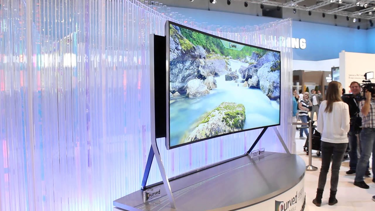 samsung 105 zoll bendable 4k 5k uhd fernseher mit 21 9 auf der ifa 2014 youtube. Black Bedroom Furniture Sets. Home Design Ideas