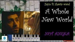 A Whole New World ZAYN FT ZHAVIA ALADIN Not Angka Pianika.mp3