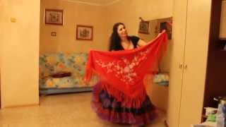 Постановка цыганского танца с платком Венеры Ферарь (из серии домашних уроков)