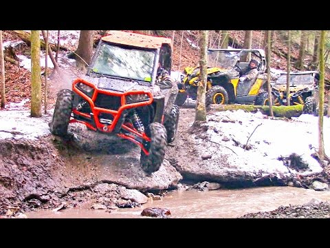 Scenic SxS Trail Ride in the Canadian Wilderness - Polaris RZR XP vs Can-Am Maverick X DS Offroading
