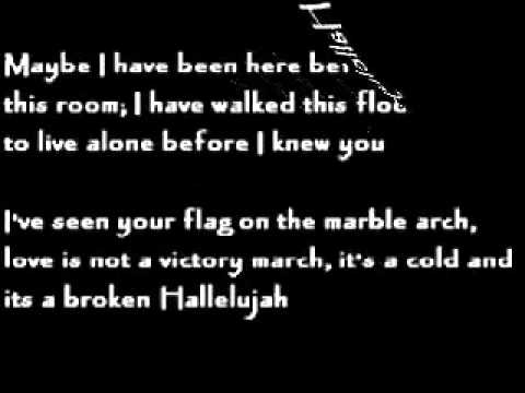 Hallelujah, Rufus Wainwright lyrics