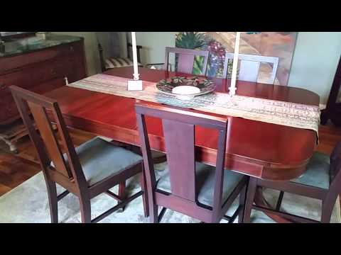 1940's Duncan Phyfe Table and Sideboard Asheville