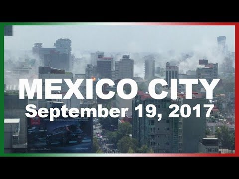 Mexico City Earthquake FOOTAGE (SHOCKING)