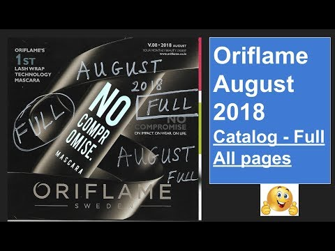Oriflame August 2018  Catalog - Full All Pages || HD Full Catalog