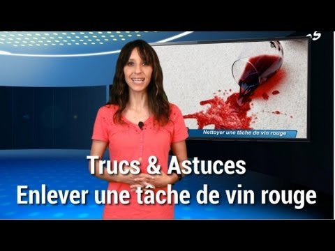 trucs et astuces enlever une t che de vin rouge youtube. Black Bedroom Furniture Sets. Home Design Ideas