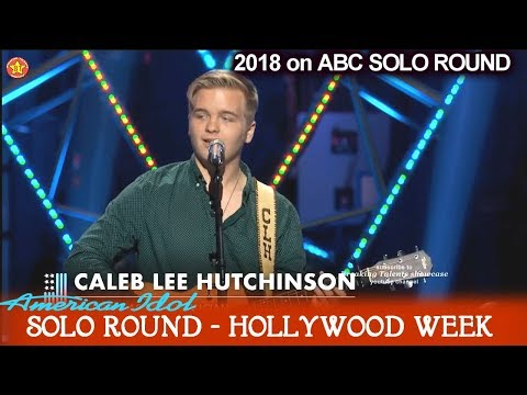 "Caleb Lee Hutchinson SUPERB country w TWANG ""Your Man"" Solo Round Hollywood Week American Idol 2018"