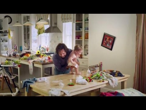 TV Commercial - Clorox Disinfecting Wipes - One Husband And A Baby - Wife Comes Home To Mess