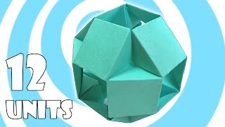 Modular Origami Ball Tutorial (12 Units) (Tomoko Fuse)