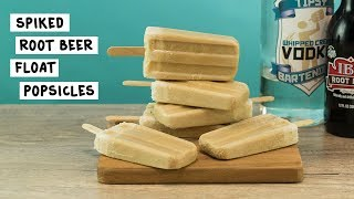 Spiked Root Beer Float Popsicles
