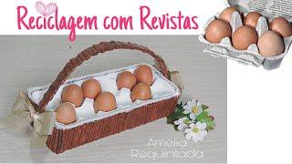 Organizador de Ovos com Papelão