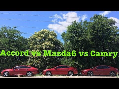 THE ULTIMATE TEST!---2018 Camry vs 2018 Mazda6 vs 2018 Honda Accord (Part 1)