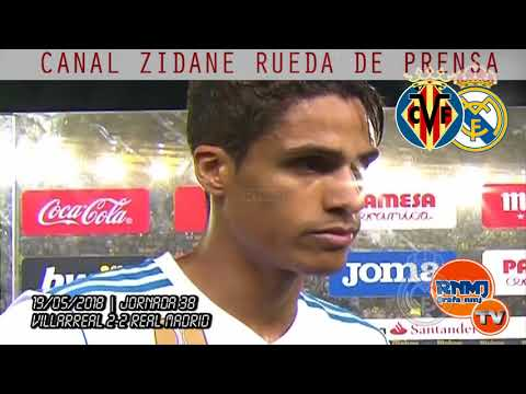 VARANE declaraciones post VILLARREAL 2-2 REAL MADRID (19/05/2018) | LIGA JORNADA 38
